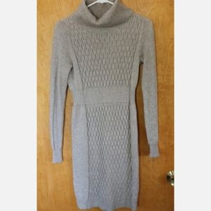 Old Navy tan turtle neck sweater dress for winter
